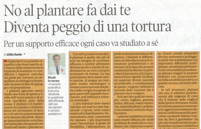 No al plantare fai da te - Intervista Il tempo Dottor Attilio Basile