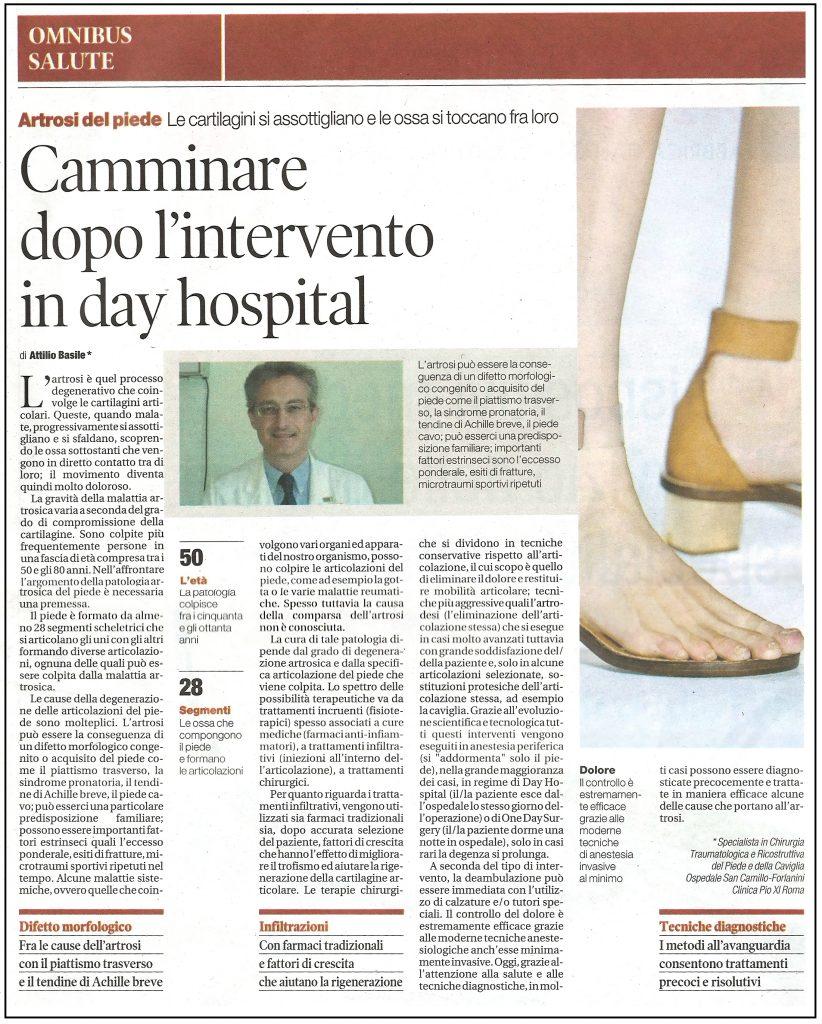 Camminare dopo l'intervento in day hospital - Dottor Attilio Basile