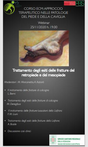 terapia nelle patologie del piede